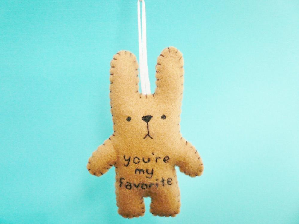 Felt stuffed animals 01 - funny bunny - You're my favorite