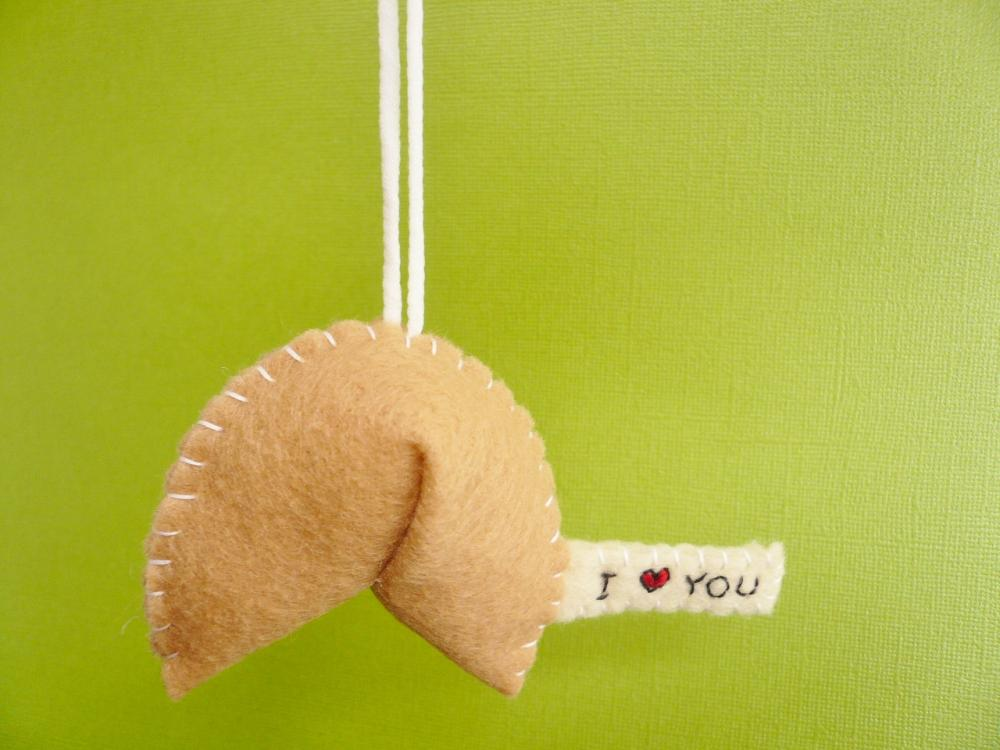 Personalized Fortune Cookie Ornament