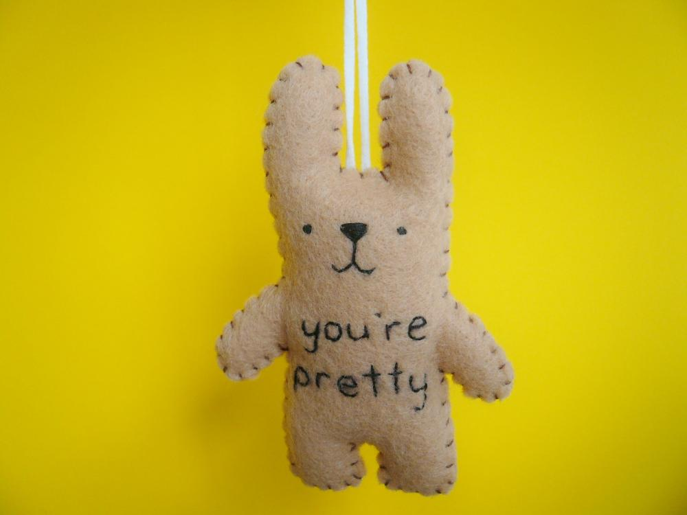 Felt ornament bunny - You're pretty