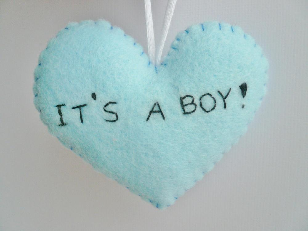 Baby Boy Shower Decorations - handmade ornament - shower gift