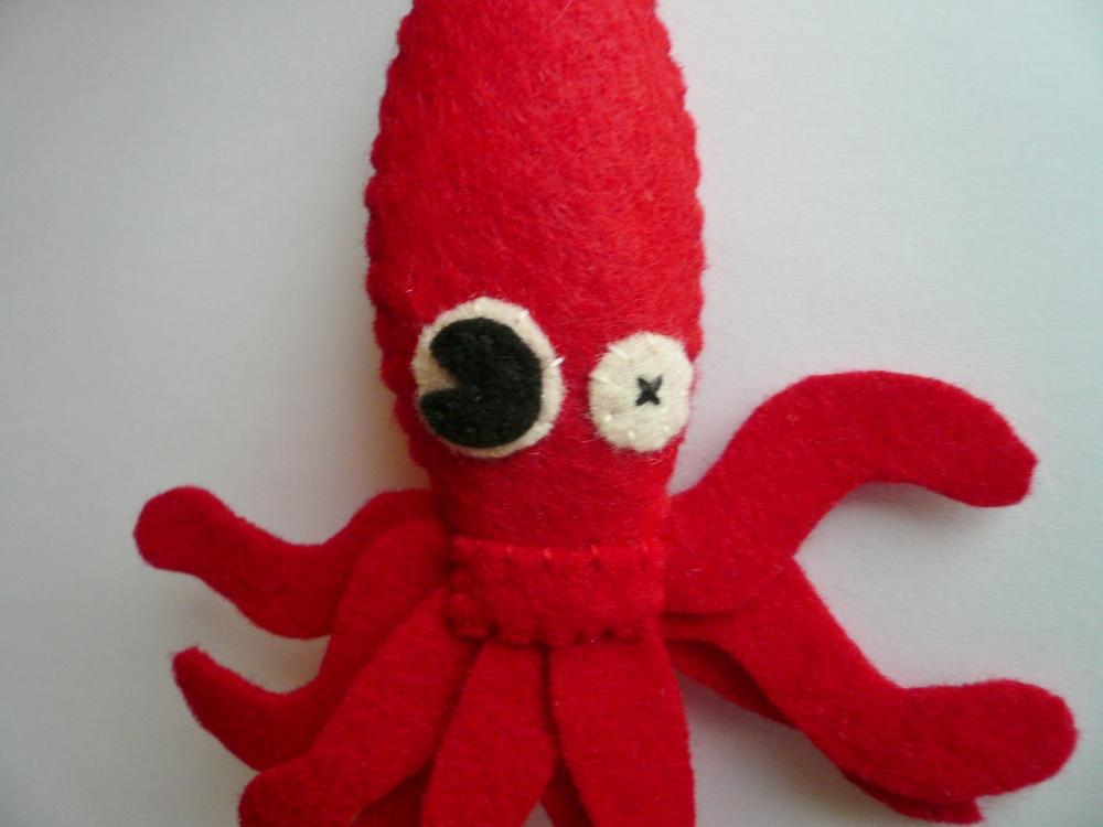 Funny Felt Ornament sea monster - Giant Squid