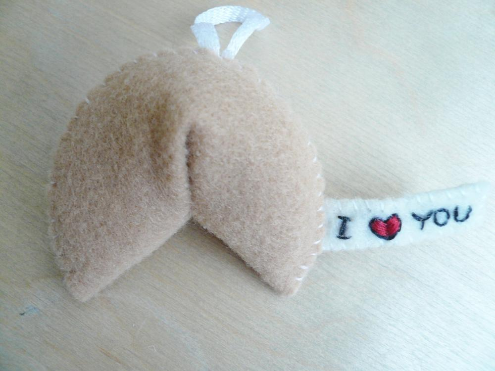 Felt Ornament Fortune Cookie