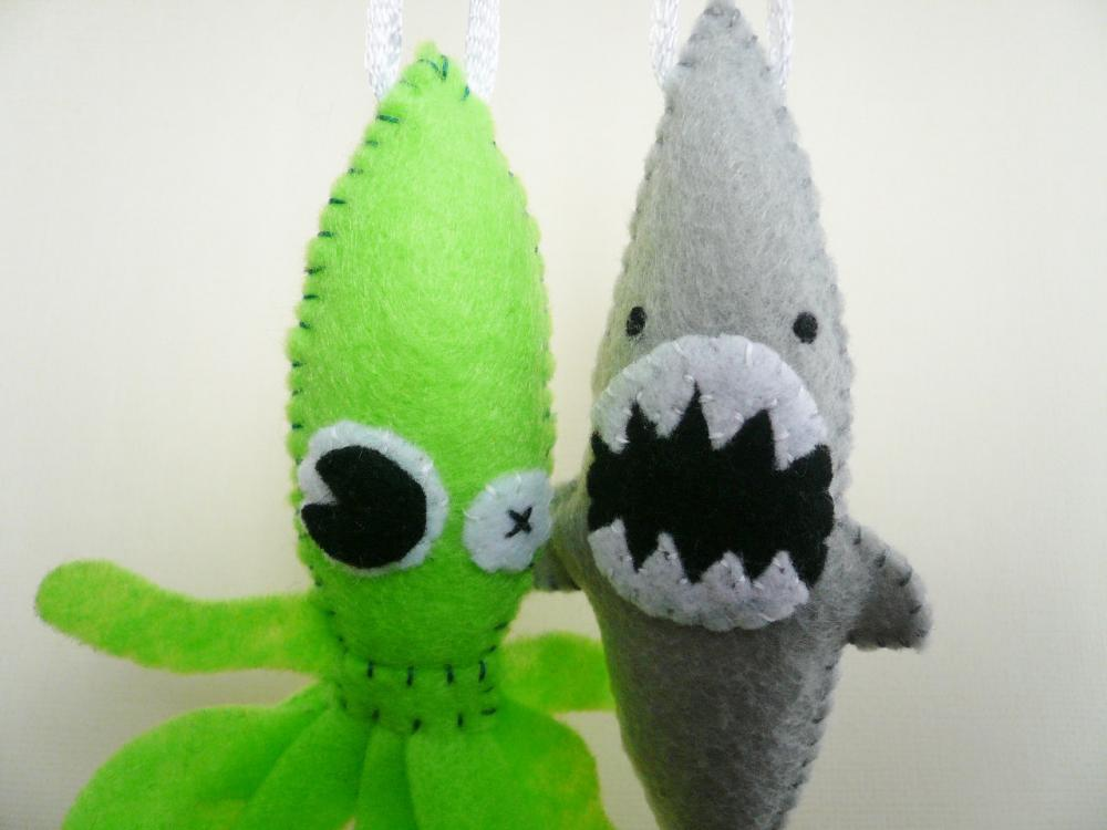 Funny Ornaments - Sea Monster Set