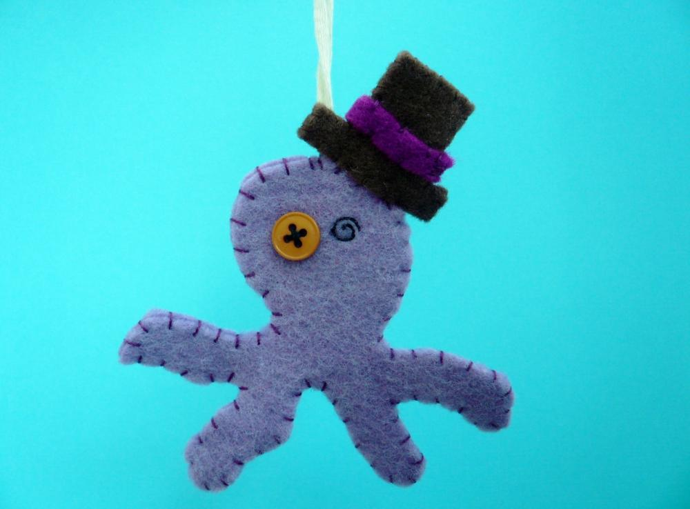 Funny Ornament - Otto the felt Octopus