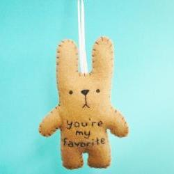 *Reserved listing for Jennifer * Felt stuffed animals 01 - funny bunny - You're my favorite