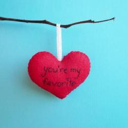 Handmade Heart Ornament You&#039;re my favorite