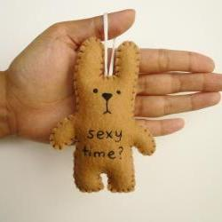 cute rabbit ornament Christmas tree decoration or gift funny bunny - Sexy time