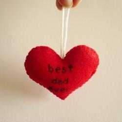 Father&#039;s Day Ornament - Best dad ever - funny handmade ornaments