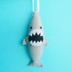 Christmas Ornament Funny - Ferocious Shark