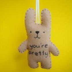 Felt ornament bunny - You're pretty