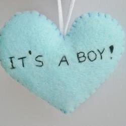 Baby Boy Shower Decorations - handmade ornament - shower gift