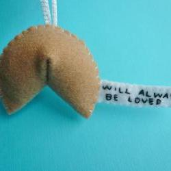 Fortune Cookie Ornament - Will always be loved