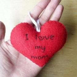Heart Ornament - I love my mom