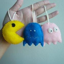 Pac Man Ornament Set - Funny Ornaments