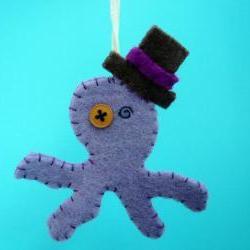 Funny Ornament - Otto the felt Octopus
