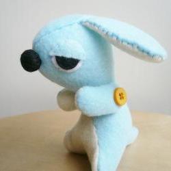 Dog Stuffed Animal - Sleepy puppy - Handmade Felt Stuffie