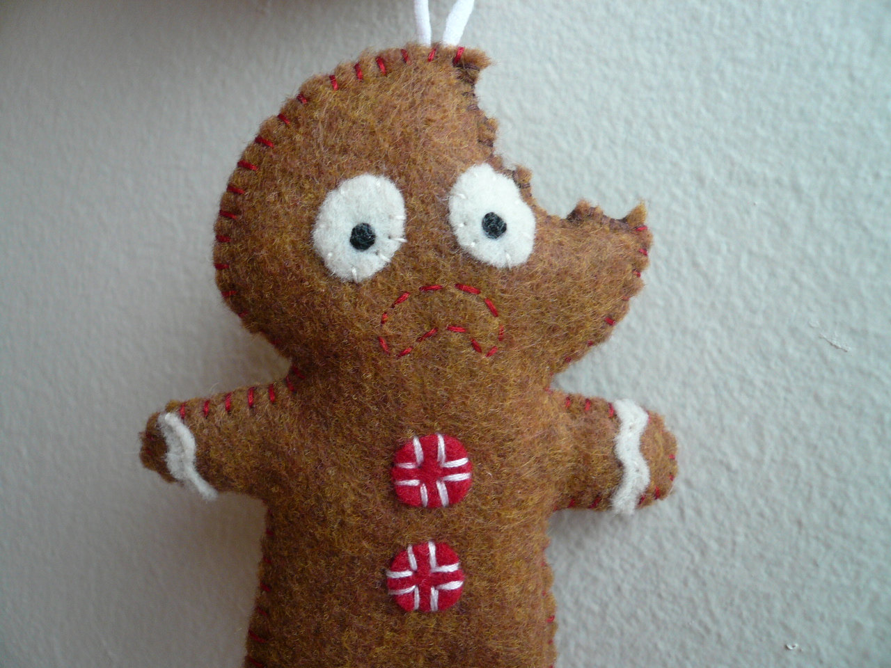 Gingerbread man ornaments - Christmas Ornaments Terrified Gingerbread Man