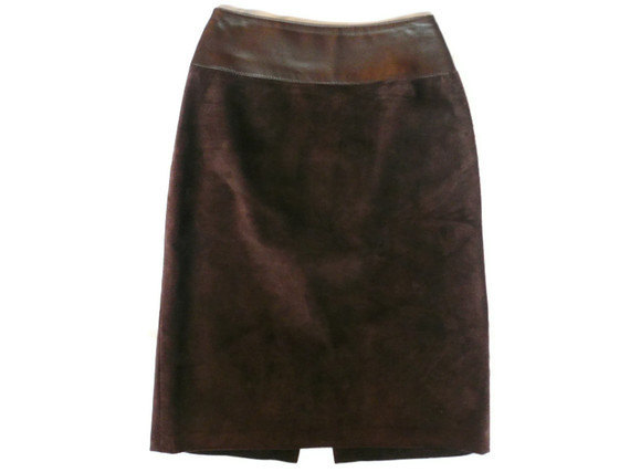 leather brown suede skirt danier on luulla